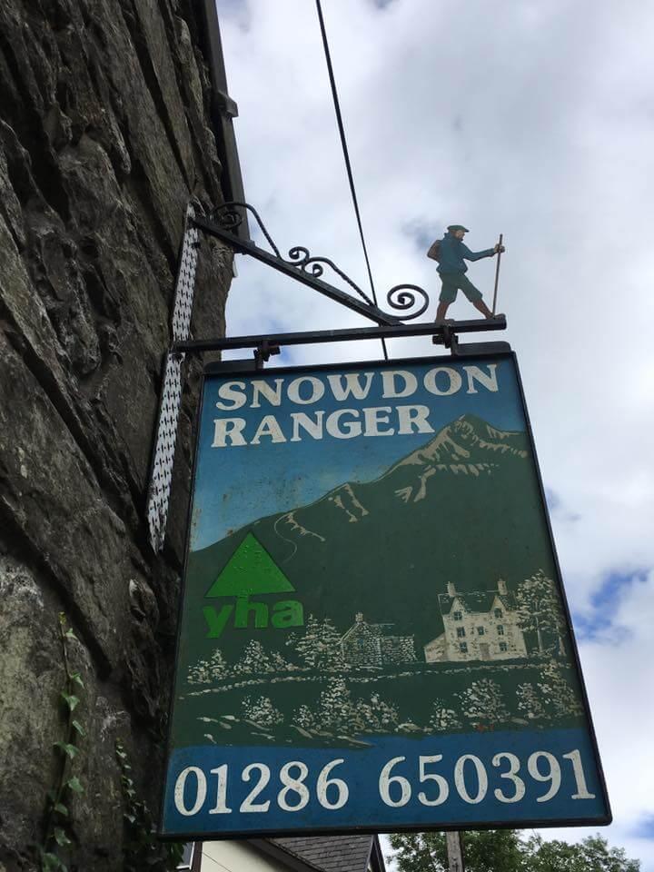 Snowdon Ranger YHA sign